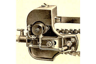 1934: Fully automatic chain lubrication